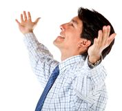 Business man with arms opened Stock Images