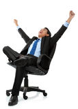 Business man with arms raised Royalty Free Stock Images