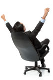 Business man with arms raised Royalty Free Stock Image