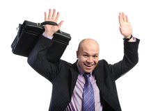Business man with arms up Royalty Free Stock Photography