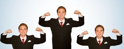Business Man with Arms Up Royalty Free Stock Image