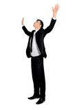 Business man arms up Royalty Free Stock Image