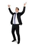 Business man arms up Stock Photos
