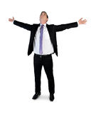 Business man arms up Stock Photography