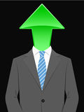 Business man with arrow head Royalty Free Stock Images