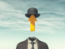 Businessman with an arrow instead. Of head - creative idea concept. 3D render illustration Stock Images