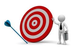 Business Man Arrow off Target Royalty Free Stock Photos