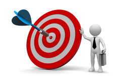 Business man and arrow on target Royalty Free Stock Photo