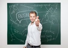Business man with aspirations Royalty Free Stock Photo
