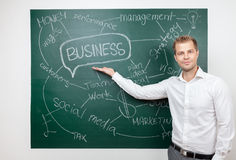 Business man with aspirations Royalty Free Stock Image