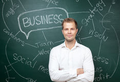 Business man with aspirations Royalty Free Stock Photography