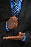 Business man assertive gesture stock photography