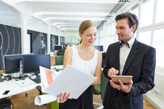 Business man with assistant in office Royalty Free Stock Photo