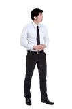 Business man Attractive smart. In isolated Royalty Free Stock Images