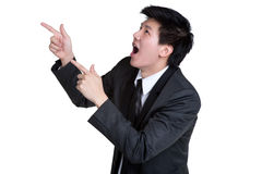 Business man Attractive smart Point suit Stock Photo