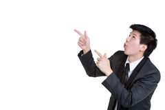 Business man Attractive smart Point suit Stock Photos