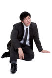 Business man Attractive smart Seat suit Royalty Free Stock Photos