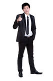 Business man Attractive smart sucess good suit. Business man Attractive smart sucess good  in suit isolated Stock Photography