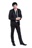 Business man Attractive  smart suit. Business man Attractive  smart in suit isolated Stock Photo