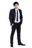 Business man Attractive  smart suit. Business man Attractive  smart in suit isolated Royalty Free Stock Photo