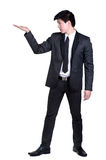 Business man Attractive  smart suit. Business man Attractive  smart in suit isolated Stock Image