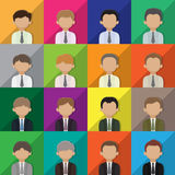 Business man avatar icons Stock Photography