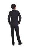 Business man from the back looking at something Royalty Free Stock Photo