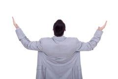 Business man back praying Royalty Free Stock Photo