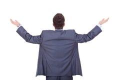 Business man back, praying Stock Photos