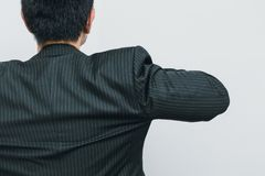 Business man back view action ready to go business. Or prepare to start new company concept Stock Images