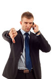 Business man with bad news Royalty Free Stock Photos