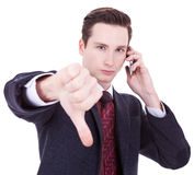 Business man with bad news Royalty Free Stock Image
