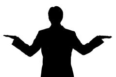 Business man balance silhouette Stock Photo