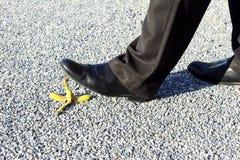 Business man and banana peel Royalty Free Stock Image