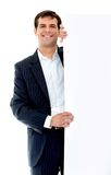 Business man - banner ad Royalty Free Stock Photo
