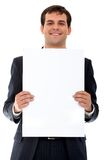Business man - banner ad Royalty Free Stock Photos