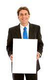 Business man - banner add Stock Images
