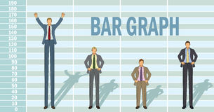 Business Man Bar Graph Stock Photo