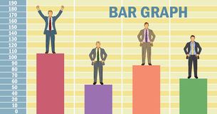 Business Man Bar Graph Royalty Free Stock Photos