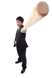 Business man and baseball bat Stock Image