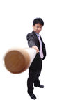 Business man and baseball bat Royalty Free Stock Image