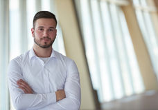 Business man with beard at modern office Stock Photos