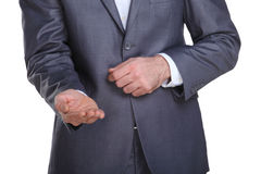Business man begging for some money Royalty Free Stock Photo