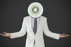 Business man with bell head Stock Photos