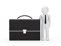 Business man big briefcase Stock Photos