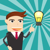 Business Man Big Idea. Business Man Think Big Idea Royalty Free Stock Images
