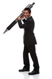 Business man with a big pen Stock Image
