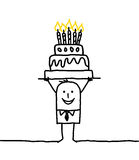 Business man & birthday Royalty Free Stock Photography