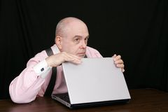 Business man on a black background Stock Image