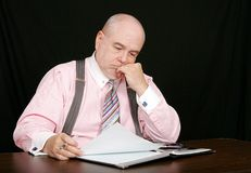 Business man on a black background Royalty Free Stock Image